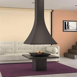 Cheminée Centrale Prix : chemin e centrale design contemporain feux ouvert prix ~ Premium-room.com Idées de Décoration