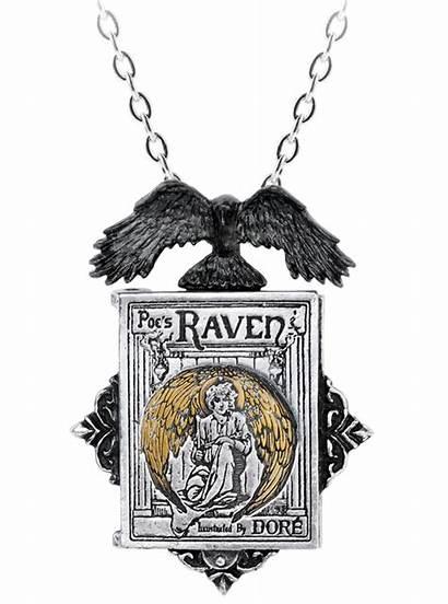 Raven Alchemy England Necklace Locket Necklaces Poe