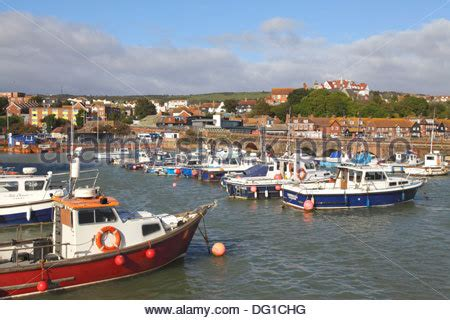 Free Boats In Kent by Harbour With Fishing Boats At Folkestone In Kent