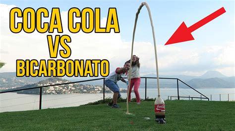 si e coca cola qué ocurre si mezclas coca cola con bicarbonato con