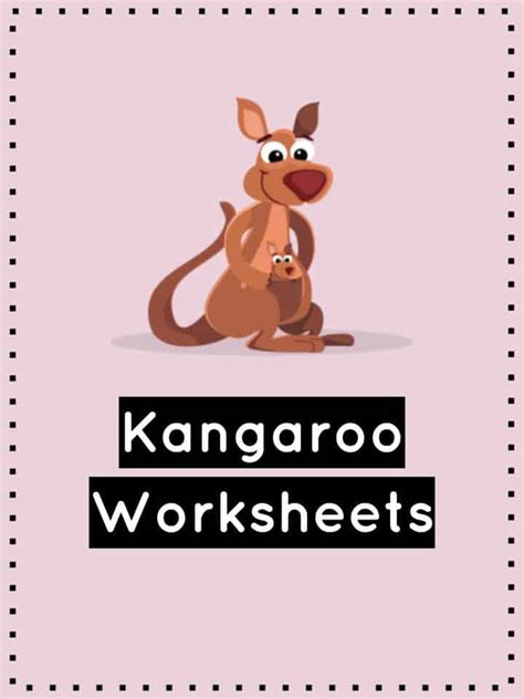 kangaroo facts  worksheets kidskonnect