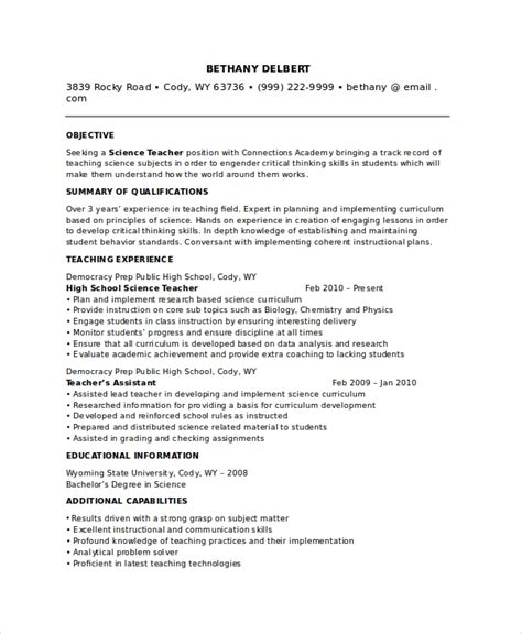sle teacher resume 8 exles in pdf word