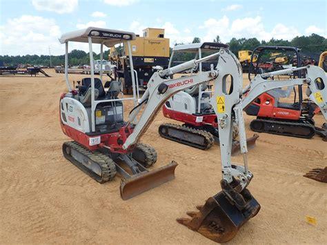 takeuchi tb excavator mini jm wood auction company
