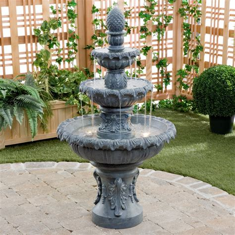 kenroy costa brava outdoor fountain fountains  hayneedle