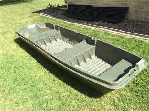 Buy Used Flat Bottom Boat by Pelican Intruder 12 Flat Bottom Jon Boat Rainbow