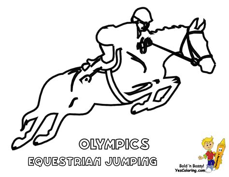 Free Olympic Equestrian Coloring Pages