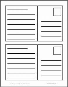 this free printable features two blank postcards per sheet With postcard template for pages