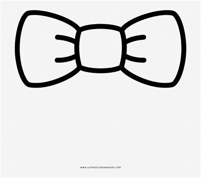 Bow Coloring Tie Graphics Pngkey Transparent