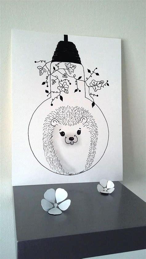 poster illustration black  white bulb sweetness