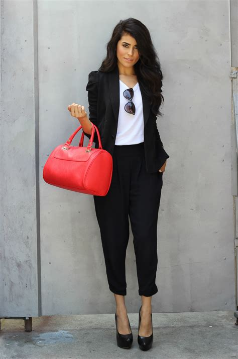 Red Black White Outfits - Oasis amor Fashion