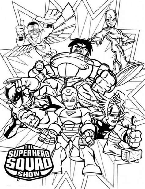 super hero squad coloring page superheroes coloring