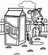 Milk Coloring Cow Latte Coloritura Pagina Mucca Della Dairy Drawn Illustrazione sketch template