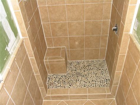 stand up shower tile lake house