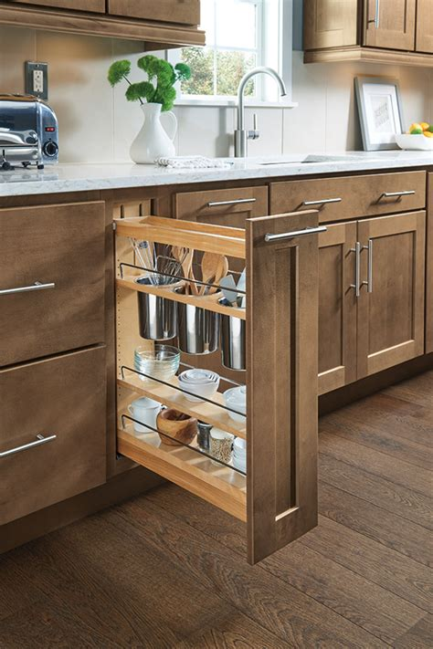 Base Utensil Pantry Pullout Cabinet  Homecrest Cabinetry
