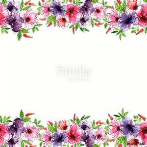 Floral Watercolor Border Frame