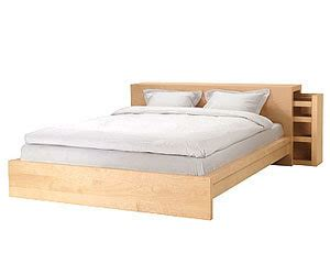 Ikea Malm Super King Size Low Bed Frame With Sliding