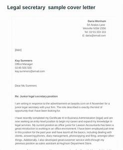 7 legal cover letters free sample example format With cover letter for legal secretary position