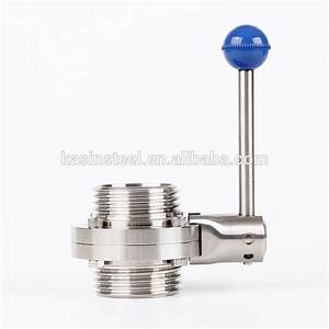 Din  Sms  3a Stainless Steel Manual Butterfly Valve With