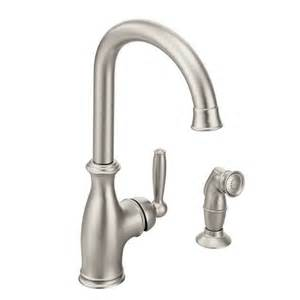 Moen Kitchen Faucet Models Shop Moen Brantford Spot Resist Stainless 1 Handle High Arc Deck Mount Kitchen Faucet At Lowes