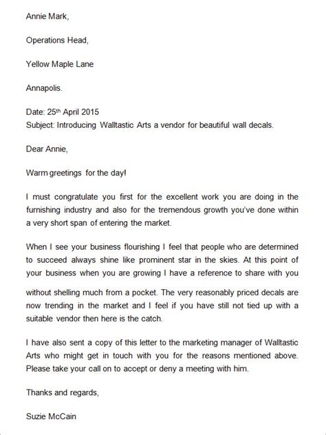 sample business introduction letters