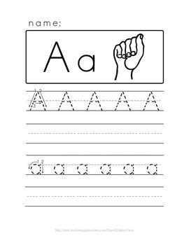 alphabet handwriting  asl books literacy