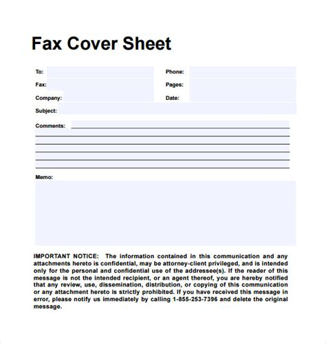 page disclaimer sle personal fax cover sheet 11 exles format