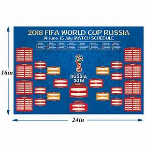 Fifa World Cup Poster Wall Soccer Teams Games Russia 2018