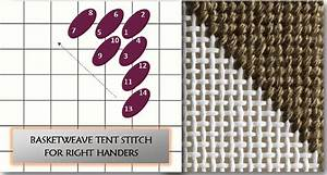 Basketweave Stitch For Right  U0026 Left Handed Stitchers