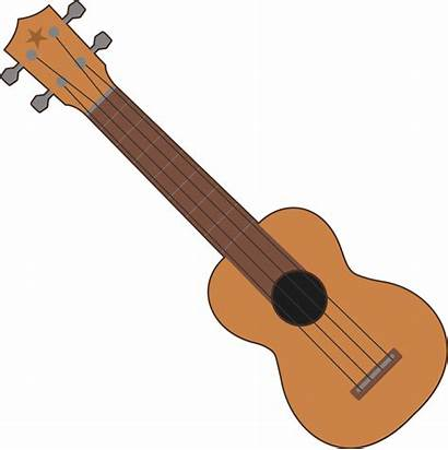 Ukulele Clipart Clip Guitar Simple Instrument Musical