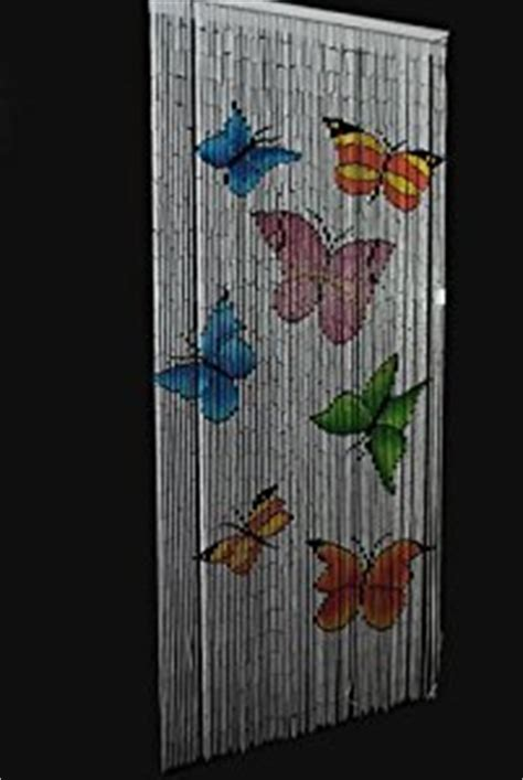 butterfly beaded bamboo door curtain amazon co uk