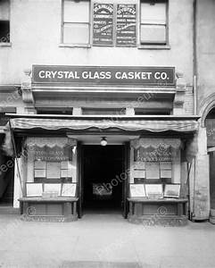 Crystal Glass Casket Co Store Front 1900 8x10 Reprint Of