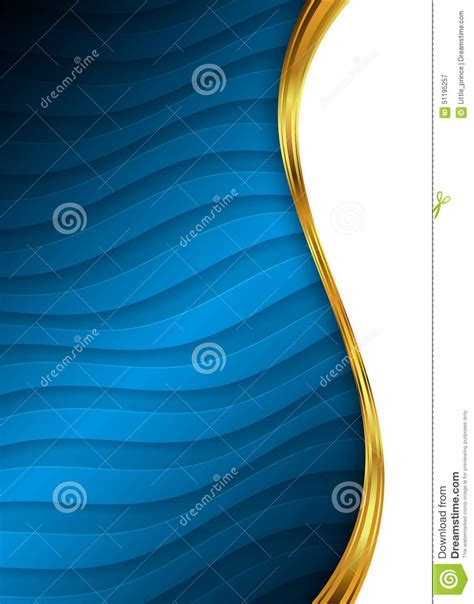 blue  gold abstract background template  website