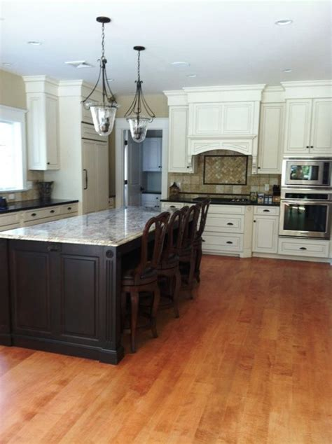 homeowners enhanced  white kitchen  curly maple