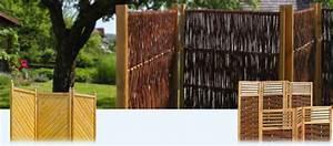 paravent aus holz weide und bambus f r haus und garten With französischer balkon mit haus garten shop