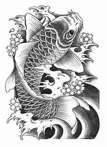 Koi Tattoo Vorlagen : koi fish tattoo sketch elaxsir ~ Frokenaadalensverden.com Haus und Dekorationen