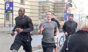 Facebook's Mark Zuckerberg Goes On Jog In Berlin With
