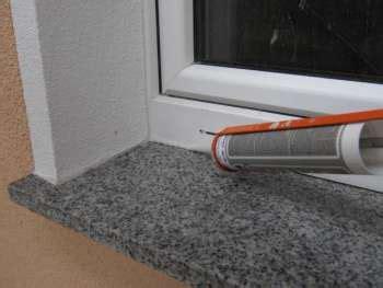 granit fensterbank einbauen 187 granit fensterb 228 nke mit natursteinsilikon abdichten silikonfugen selber machen altbau