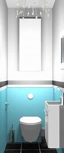 Deco Wc Gris : deco wc bleu canard amazing deco toilettes wc galerie photos et id es d coration photo ~ Melissatoandfro.com Idées de Décoration