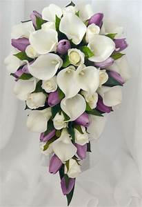 Details about SILK WEDDING BOUQUET LATEX WHITE CALLA LILY ...