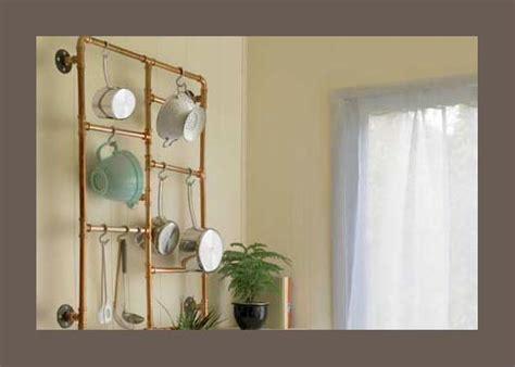 ladders as pot racks in wood or copper (diy)
