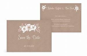 Save The Date Karte : save the date karte blumig ~ A.2002-acura-tl-radio.info Haus und Dekorationen