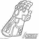 Coloring Thanos Pages Gauntlet Infinity sketch template