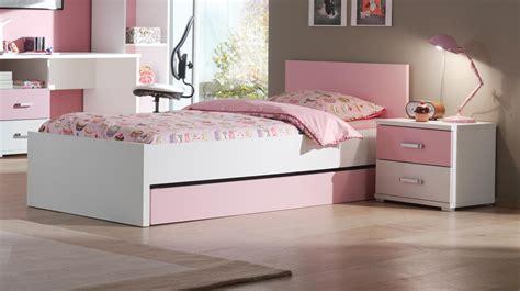 chambre fille but tiroir lit contemporain blanc et eglantine tiroir
