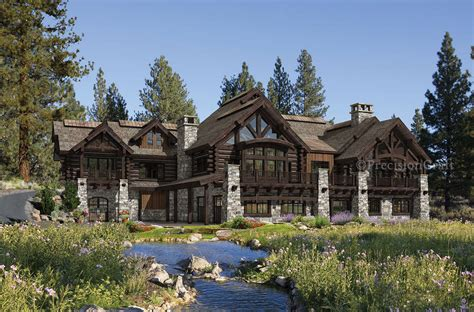 Buffalo Creek Lodge House Plan By Precision Craft