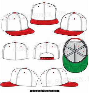 hat template flat bill snapback fitted fashion With beanie design template