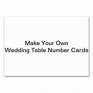 make your own wedding table number cards table cards zazzle With wedding place cards print your own