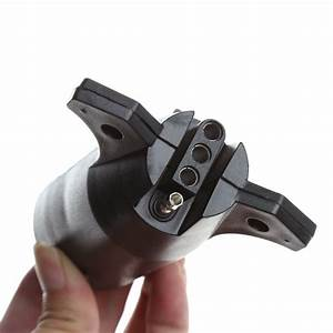 7 Way Round To 4 Pin Flat Blade Trailer Connector Plug