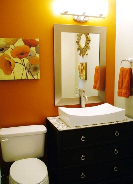 Ideas For An Orange Bathroom by Orange Wall Cabinet Sink Interior Design