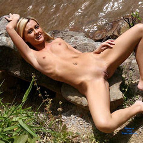 Naked Blonde At River Rocks June 2016 Voyeur Web Hall