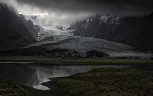 Wallpaper, 1920x1200, Px, Clouds, Dark, Fjord, Glaciers, Iceland, Landscape, Mountain, Nature